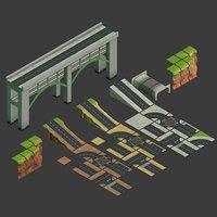 3D road build games model