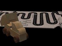 cute kids toys adventure 3D model
