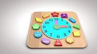 Child wooden o'clocks sorter