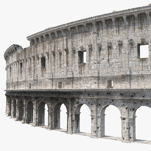 ancient wall arches 3D