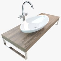 3D model bathroom washbasin plate