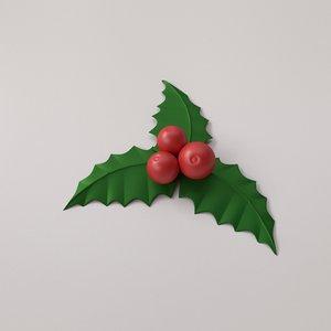 3D mistletoe christmas model