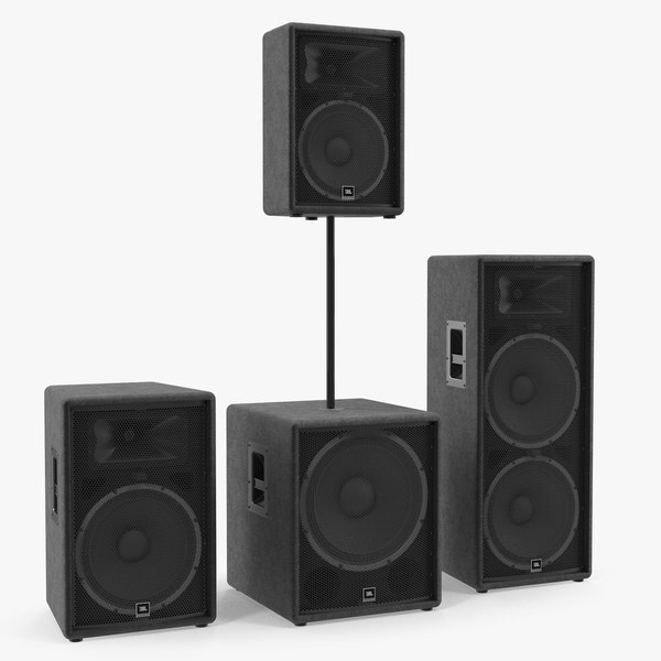jbl jrx speaker 3D model