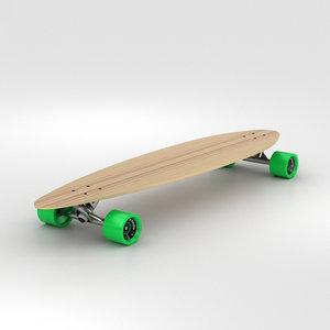 3D longboard board model