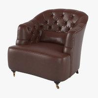 3D tufted club chair