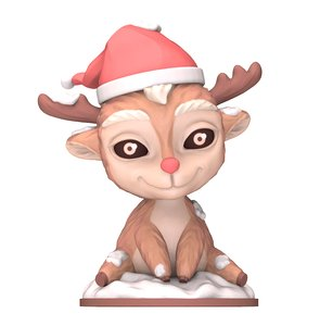 christmas cute deer 3D model