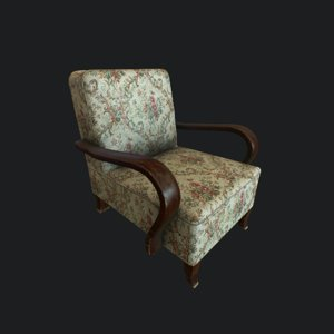 3D model old armchair chair