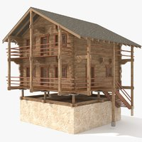wood house model