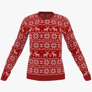 womens winter neck sweatshirt model