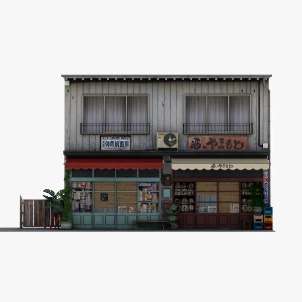 3D old japanese store model