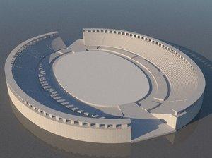 centro cultural dos povos 3D model