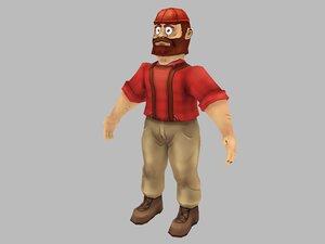 character lumberjack 3D model