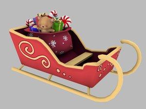 santa sled 3D