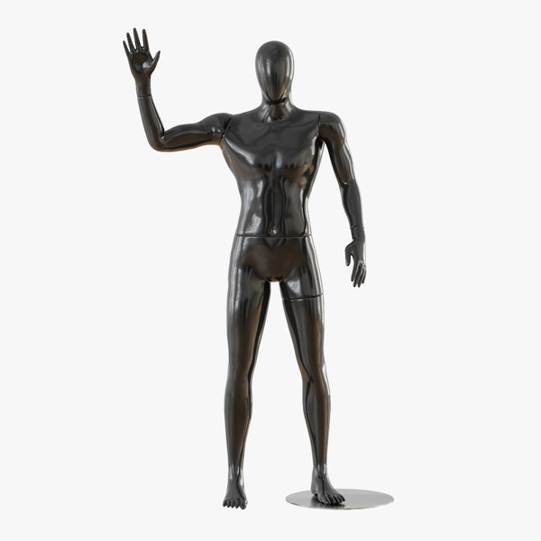 3D abstract male mannequin model