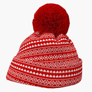 3D winter christmas hat model