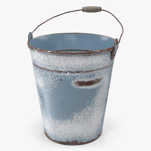 3D rusty bucket model