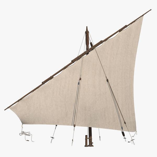 traditional arabian sail 3D model
