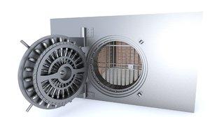 3D bank vault