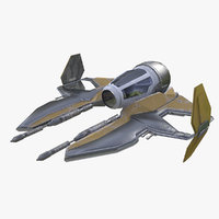 3D space ship spaceship model