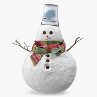 little christmas snowman snow model