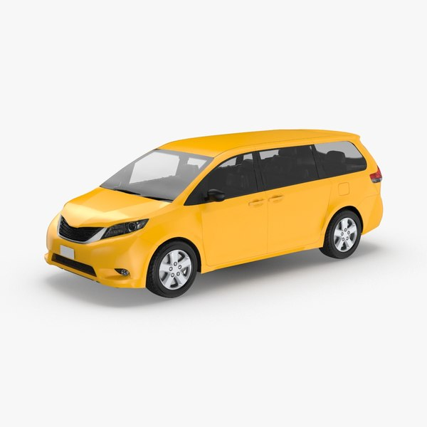 modern-new-york-city-taxi-02---without-labels 3D model