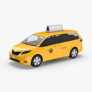 modern-new-york-city-taxi-02---with-labels 3D model