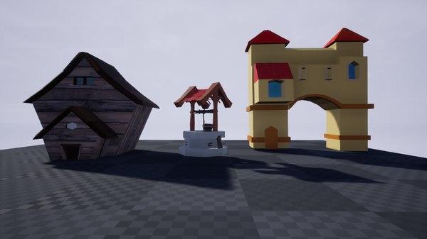 elements landscape 3D model