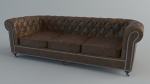 chesterfield sofa 3D model