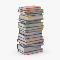 3D stack books -