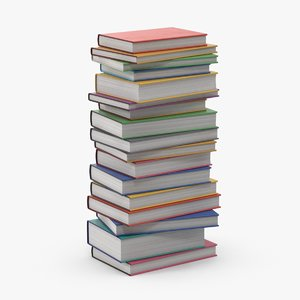 3D stack books -