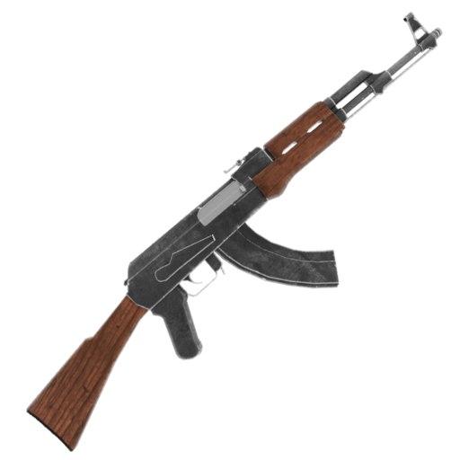 3D ak-47 modeled model