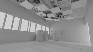 3D room construction model