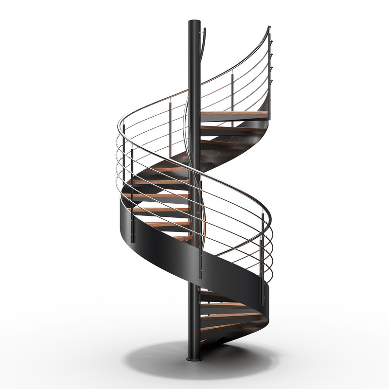 3D model spiral stair staircase