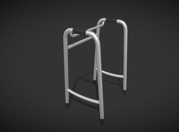 3D elderly fracture walking aids model