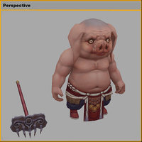 monster - piglet 01 3D model