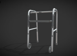 old man walker aids 3D