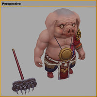monster - little pig model