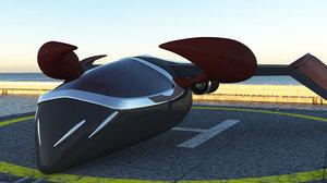 horned aircraft 3D model