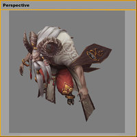 monster - sheep lily 3D model