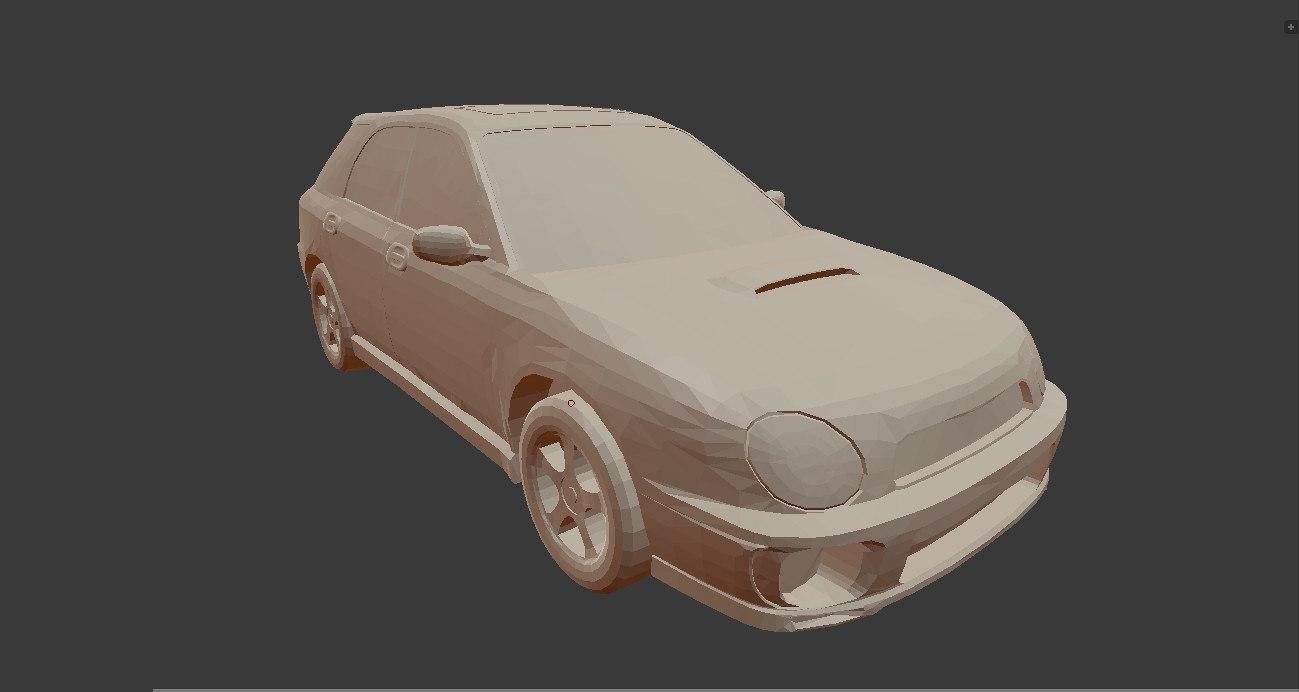 3D medium subaru wrx wagon