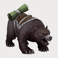 Low poly 3D Monster - Bear 02