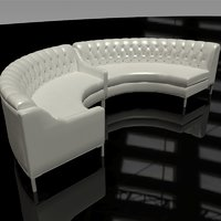 leather sectional 3D model