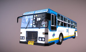 bus legendary 8 thailand 3D