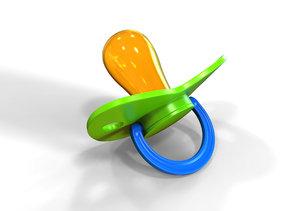 realistic pacifier children 3D