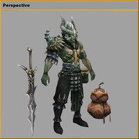 monster - silver horn 3D model