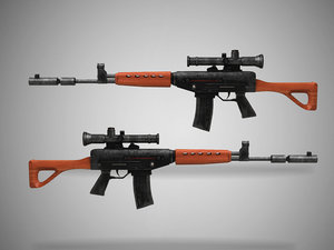 3D dragunov sniper gun