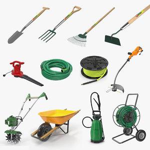 garden tools 3 3D