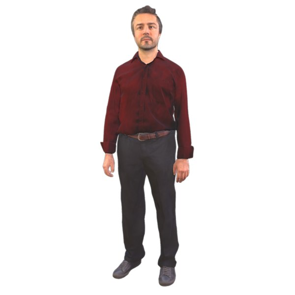 scanned standing 3D model