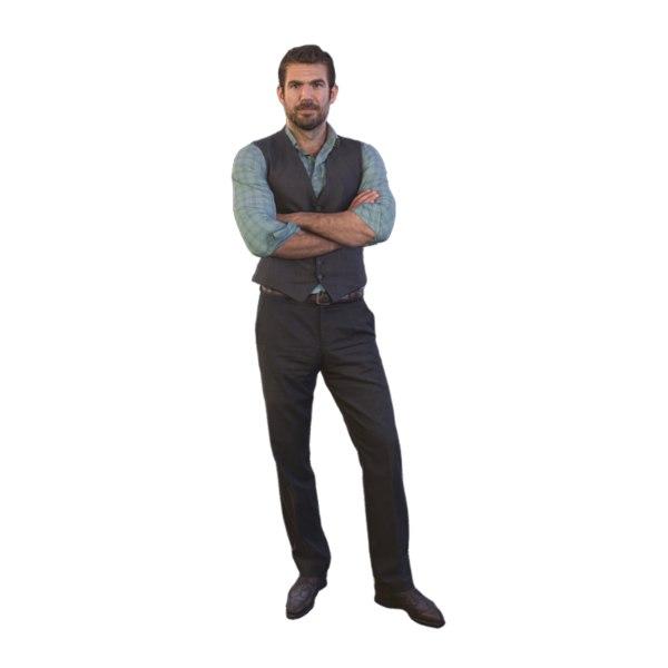 3D scanned guy standing model