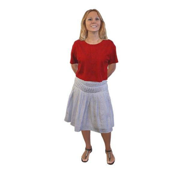 3D woman standing model